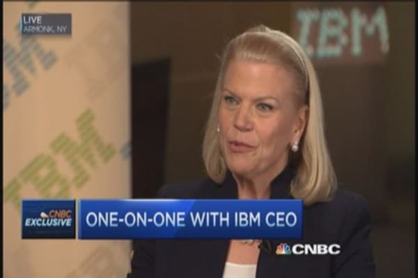 IBM CEO honored to have Buffett