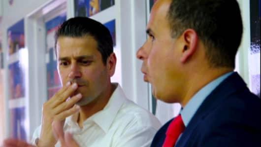 "Marcus Lemonis of CNBC's ""The Profit"" with Artistic Stitch owner Sal Loretta."