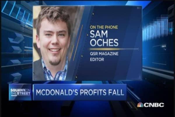 McDonald's profits fall