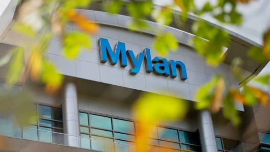 Mylan headquarters in Canonsburg, Pa.