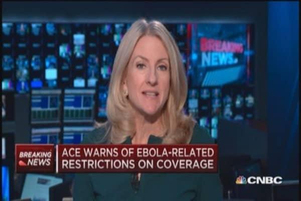 ACE Ltd. warns of Ebola restrictions