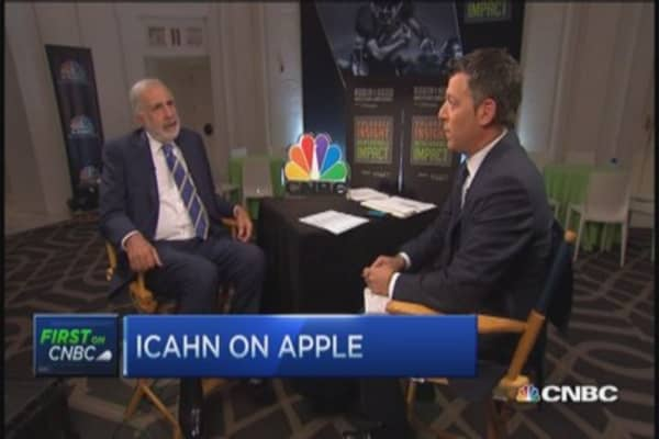 Icahn repeats Apple a 'no brainer'