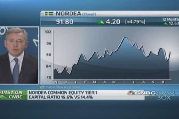 Europe's 'economic momentum lagging': Nordea CEO