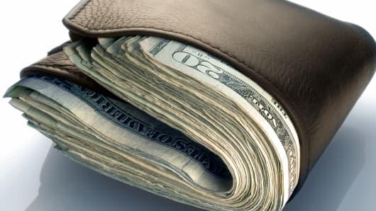 Fat wallet, stuffed wallet, wallet, money wallet, personal finance, savings