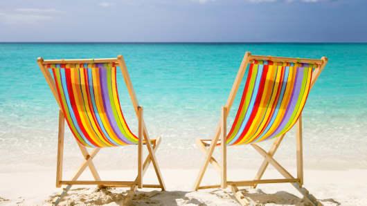 Empty beach chairs beach chairs vacation beach
