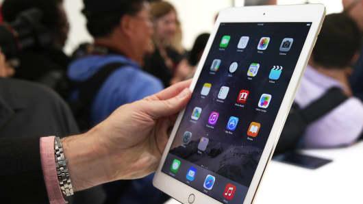 An Apple iPad Air 2