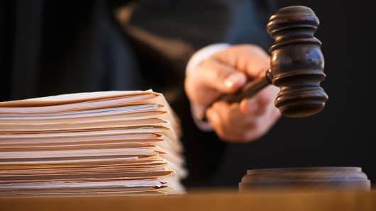 judge holding gavel, Gavel