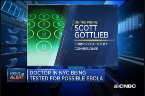 Doctor in NYC being tested for Ebola