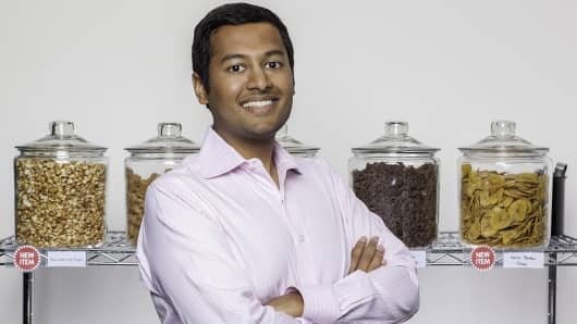 Guatam Gupta founded healthy snack start-up NatureBox in January 2012.