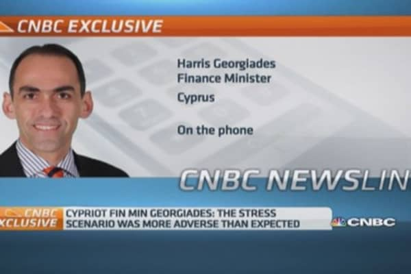 Stress tests 'excellent message' for Cyprus: Fin Min