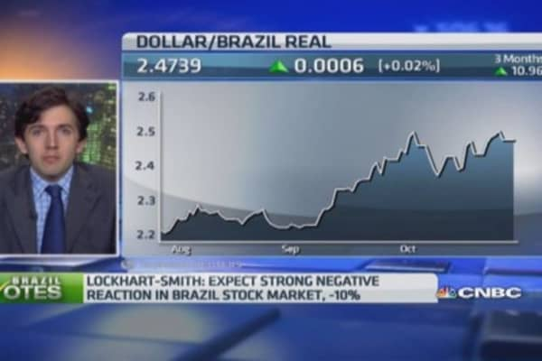 Rousseff election win 'bad news' for markets: Pro
