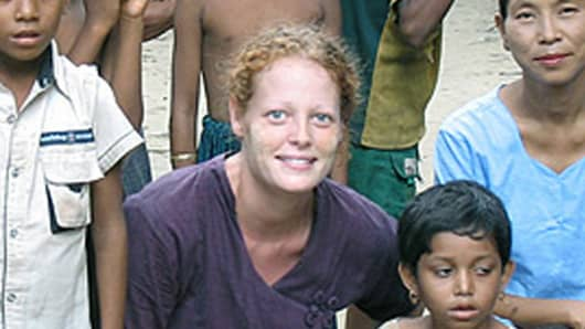 This undated image provided by University of Texas at Arlington shows Kaci Hickox.