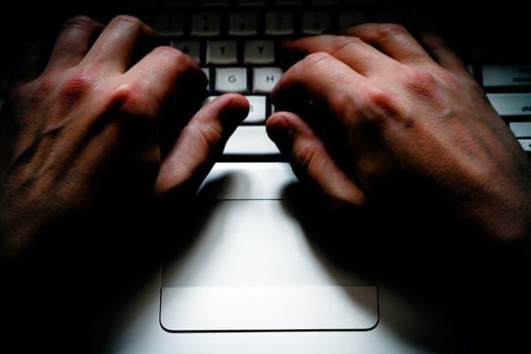 keyboard, typing, hacker, cybercrime, cybersecurity, hacking, data breach