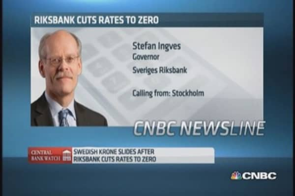 Staying at 0% will be enough: Riksbank governor