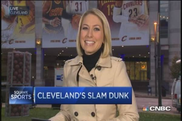 The 'King' is back in Cleveland
