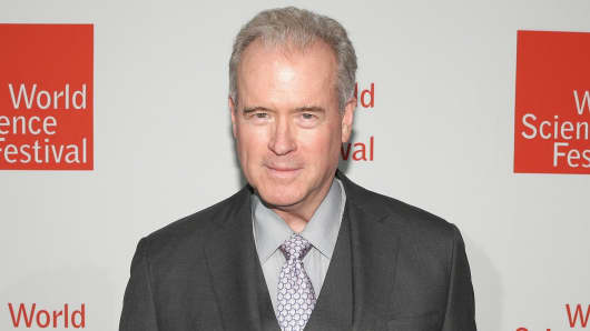Robert Mercer in a rare photo at the 2014 World Science Festival Gala, New York City.