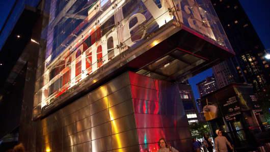 Time Warner building, New York.