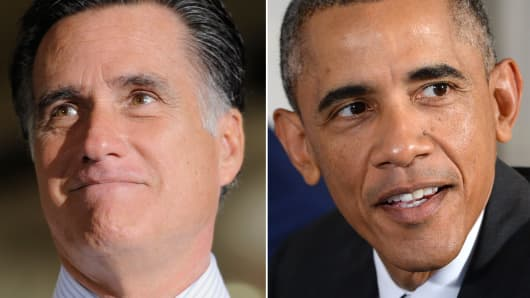 Mitt Romney and President Barack Obama.