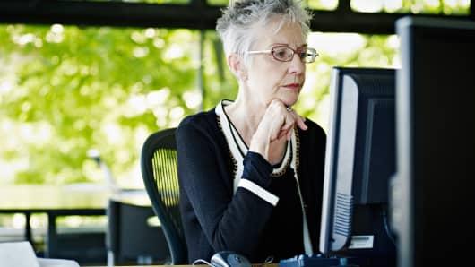 Senior woman businesswoman working