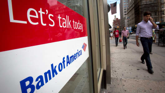 A Bank of America branch in New York City.