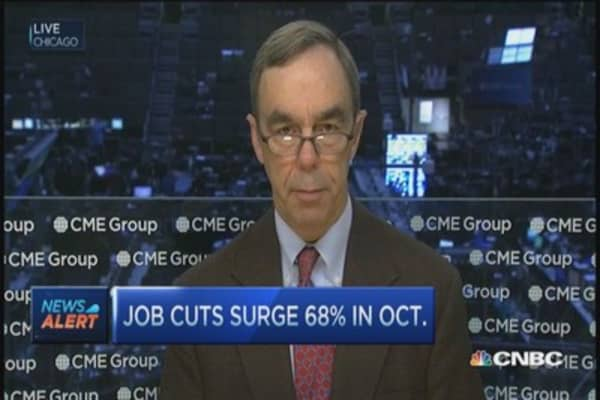 Job cuts surge 68% in October: Survey