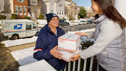 United States Post Office package delivery