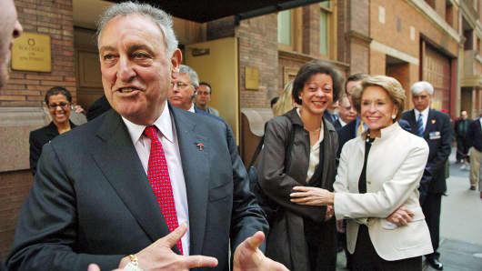 In this April 18, 2006 photo, Citgroup Chairman and CEO Sandy Weill is shown after a shareholders meeting in New York.
