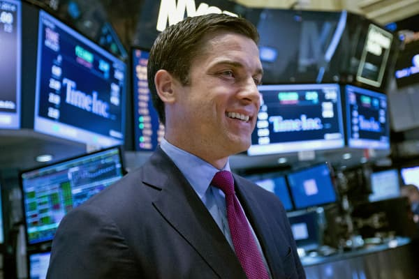 "Thomas ""Tom"" Farley, president of NYSE Euronext, speaks during an interview on the floor of the New York Stock Exchange."