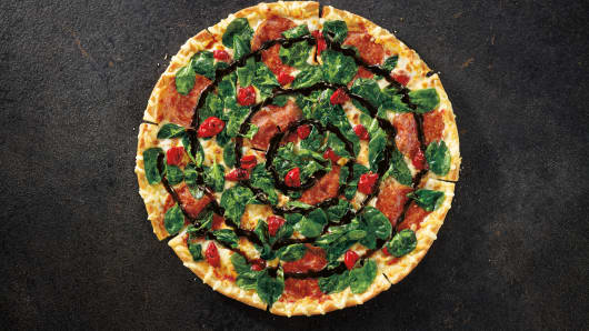 Cherry Pepper Bombshell pizza by Pizza Hut