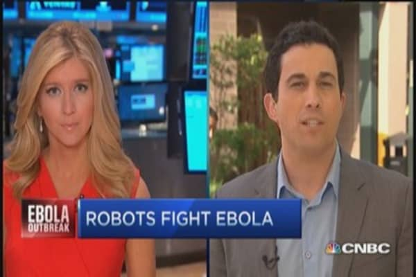 Robots can't catch Ebola
