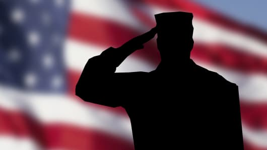 Military Salute American flag