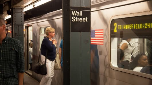 Wall Street subway station NYSE