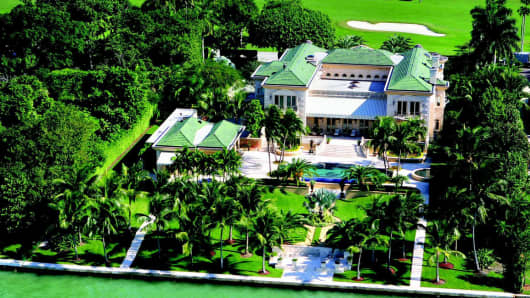 This $28 million mansion in Indian Creek, Florida, was one of the highest-priced real-estate sales last quarter.