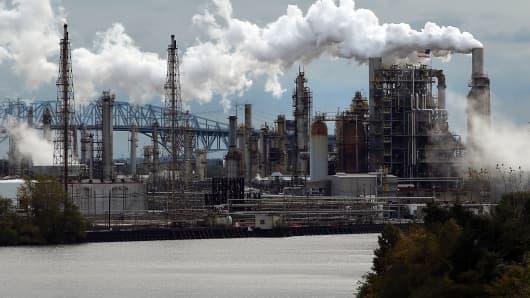The Philadelphia Energy Solutions refinery in Philadelphia, Pennsylvania.