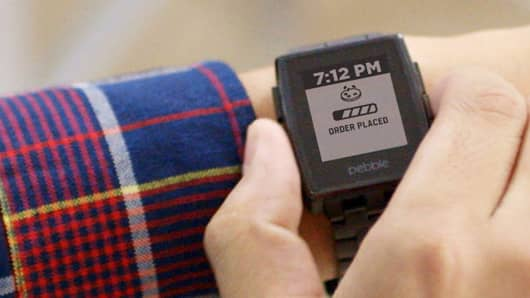 The Domino's Pizza Tracker will now be available as an app on the Pebble smartwatch.