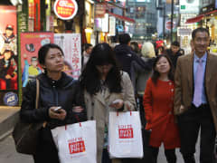Seoul South Korea shoppers