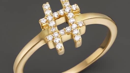 Khai Khai Diamond Hashtag Ring
