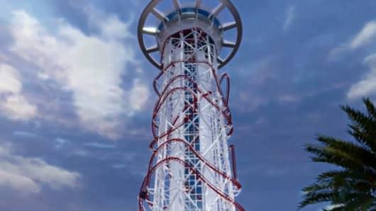 Skyscraper roller coaster