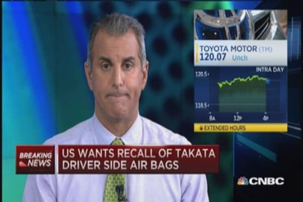 US requests recall for some Takata air bags