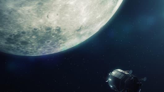 Lunar Mission One in flight