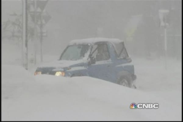 Historic storm buries Buffalo under six feet of snow