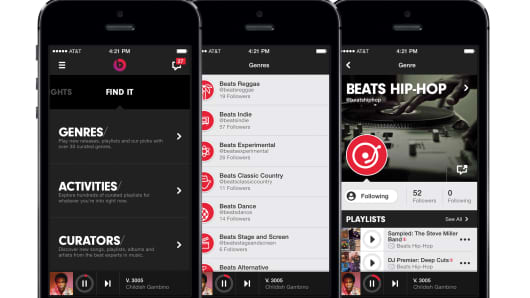 The Beats Music app