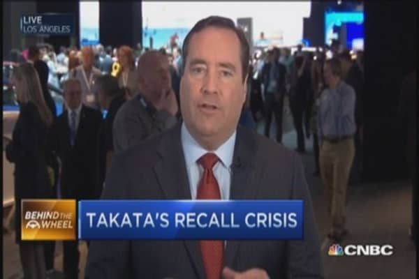Takata air bags in question