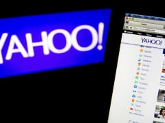 The Yahoo! website and logo are displayed on laptop computers in Washington, April 15, 2014.