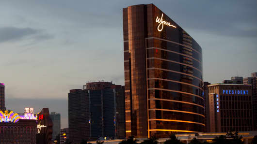 Wynn Macau casino resort, operated by Wynn Resorts, in Macau, China.