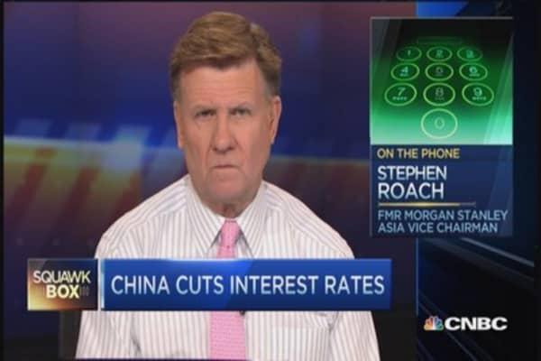 China cuts lending rates 40 basis point