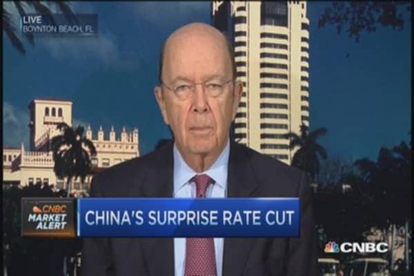 China rate cut positive: Wilbur Ross