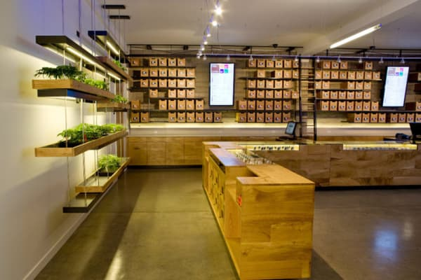 The Interior of the Sparc dispensary in San Francisco, California