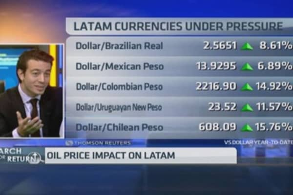 Latin America feeling the oil price drop