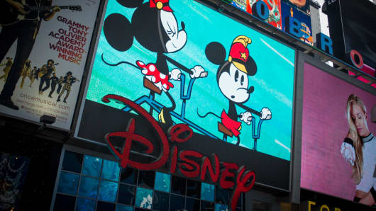 The Disney Store in Times Square, New York.